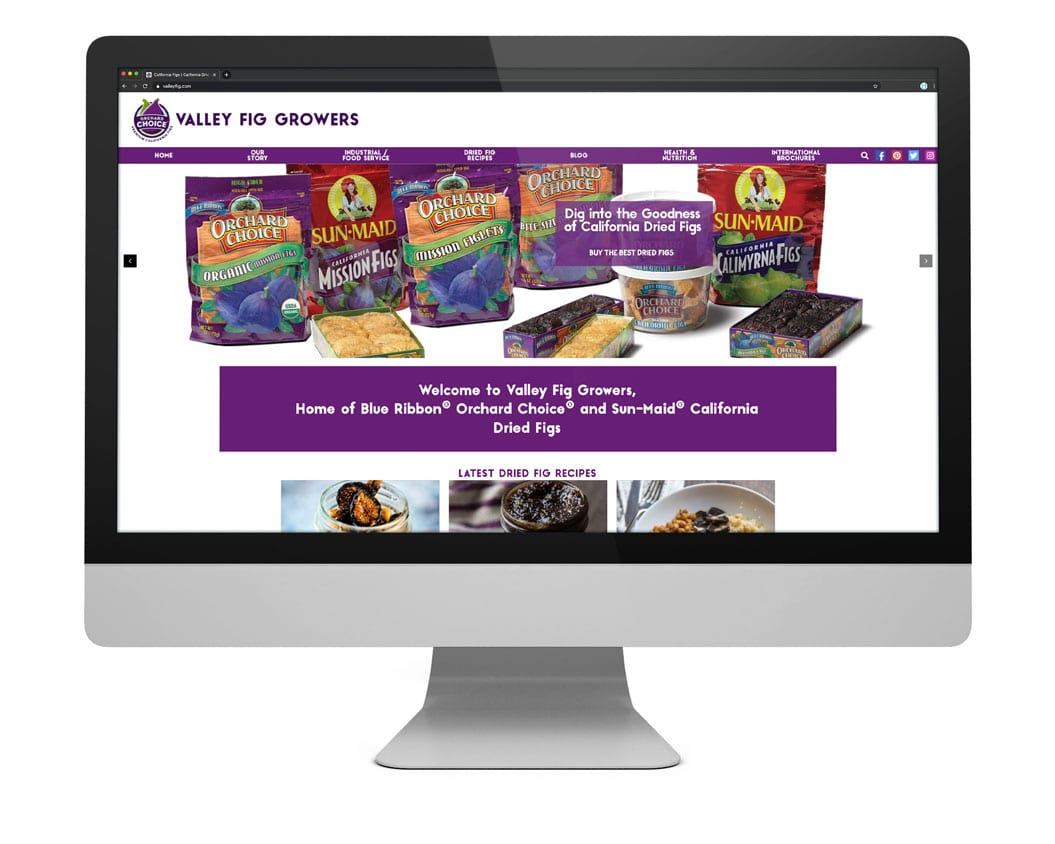 Valley Fig Growers Web Design