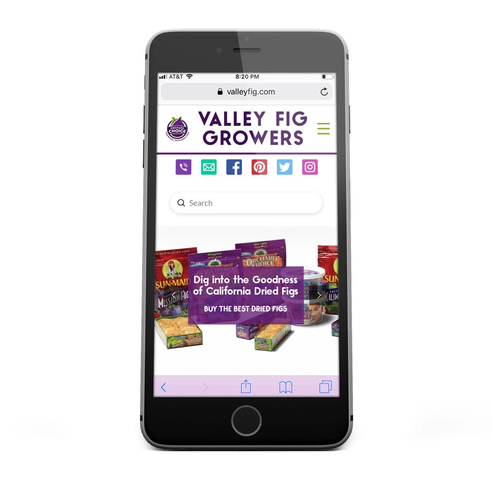 Valley Fig Growers Mobile Web Design